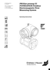 Fieldbus Specialists PROline promag 53 Manuals