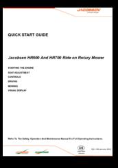 Array - jacobsen hr600 quick start manual pdf download   rh   manualslib com