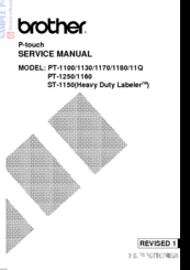 brother p touch pt 1170 manuals rh manualslib com 1170 Numbers epson fx 1170 service manual