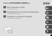 Epson Stylus Photo Printer PX800FW Operation Manual
