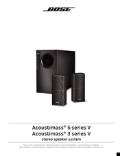 bose acoustimass 5 series v owner s manual pdf download rh manualslib com Bose Acoustimass Speaker Setup Bose Acoustimass Subwoofer Wiring