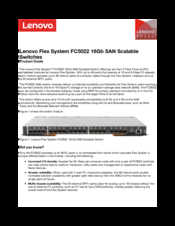 Lenovo Flex System FC5022 Product Manual