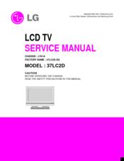 lg 37lc2d series manuals rh manualslib com LG 37LC2D Power Cord LG 37LC2D Specs