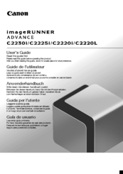 Canon IMAGERUNNER C2220i User Manual