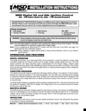 MSD 6A 6201 INSTALLATION INSTRUCTIONS MANUAL Pdf Download | ManualsLibManualsLib