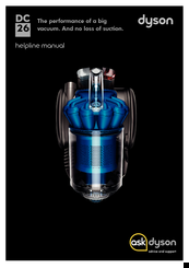dyson dc26 helpline manual pdf download rh manualslib com dyson dc26 repair manual dyson dc26 owner's manual
