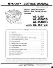 Sharp AL-1540CS Service Manual