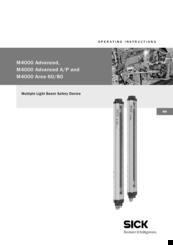 Sick M4000 Advanced Manuals