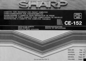 Sharp CE-152 Instruction Manual