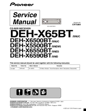 pioneer deh x65bt manuals. Black Bedroom Furniture Sets. Home Design Ideas