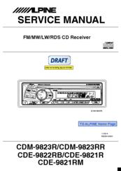 Alpine cdm-9823 user manual | 22 pages.