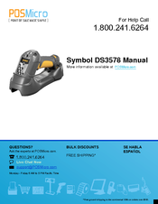 SYMBOL DS3578 USER MANUAL Pdf Download