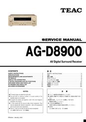 Teac AG-D8900 Manuals