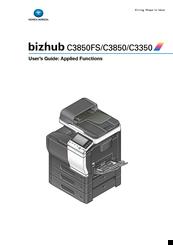 konica minolta bizhub c3850fs manuals rh manualslib com Bizhub C350 Windows 8 Bizhub C350 Driver