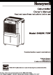 Honeywell DH50W Owner's Manual