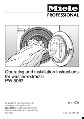 Miele PW 5082 Operating And Installation Instructions