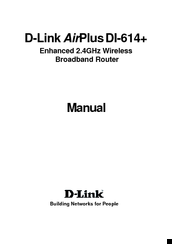 D-Link AirPlus DI-614+ Manual