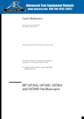 HP 54710D User's Reference Manual
