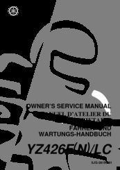 Yamaha 2001 YZ426F/LC Manuals on