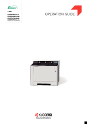 Kyocera ECOSYS P5021cdn Manuals