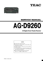 Teac AG-D9260 Manuals