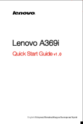 Lenovo A369i Quick Start Manual