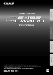 Yamaha PSR-EW400 Owner's Manual