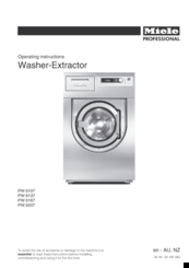 Miele PW 6107 Operating Instructions Manual
