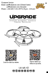 User manual udi rc u818a hd quadcopter with hd camera (black.