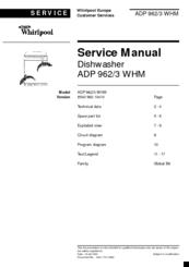 whirlpool adp 962 whm manuals rh manualslib com Whirlpool Dishwasher Parts Diagram Whirlpool Dishwasher Parts Diagram