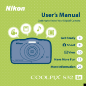nikon coolpix s32 manuals