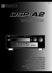 Yamaha DSP-A2 Owner's Manual