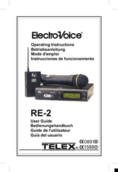 Electro-voice Telex RE-2 Manuals