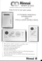 rinnai infinity 20 2021 manuals rh manualslib com rinnai infinity 20 installation manual rinnai infinity 20 service manual