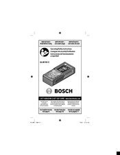Bosch GLM 50 C Professional Operating/safety Instructions Manual