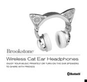 eeb574010fc BROOKSTONE WIRELESS CAT EAR HEADPHONES MANUAL Pdf Download.