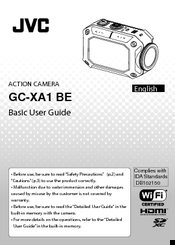 JVC GC-XA1 BE Basic User's Manual