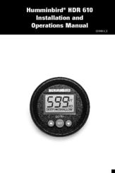 Humminbird HDR 610 Manuals