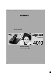 Siemens Gigaset 4010 Classic Operating Instructions Manual