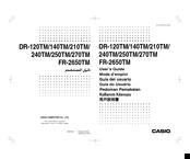 Casio FR-2650TM Manuals | ManualsLib