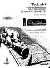 Technics sa-gx690 service manual original repair book stereo.