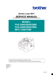 Brother FAX-2940 Service Manual