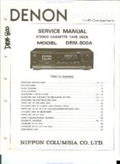 Denon DRM-800A Manuals
