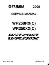 YAMAHA WR250R SERVICE MANUAL Pdf Download. on