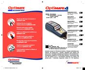 tecmate optimate 4 manuals rh manualslib com optimate 4 manual instructions Optimate Battery Charger