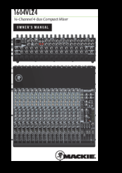 Mackie 1604 vlz 16 channel mixer w/ manual ( needs cleaning) | reverb.