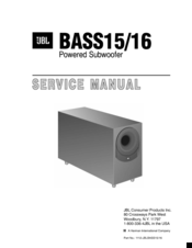 Jbl B15 Manuals Jbl Powered Subwoofer Schematic Diagram on