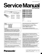 panasonic dmr ex75eg service manual pdf download rh manualslib com Panasonic Product Manuals Panasonic Manual Ra 6800