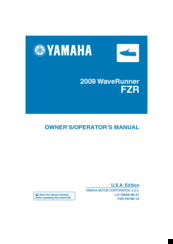 Yamaha 2009 Waverunner FZR Owner's Manual