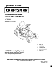 Craftsman rer 1000 User Manual
